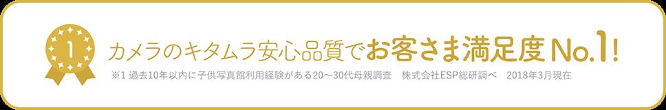 カメラのキタムラ安心品質でお客様満足度No.1!