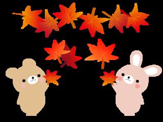 free-illustration-maple-rabit-bear.png